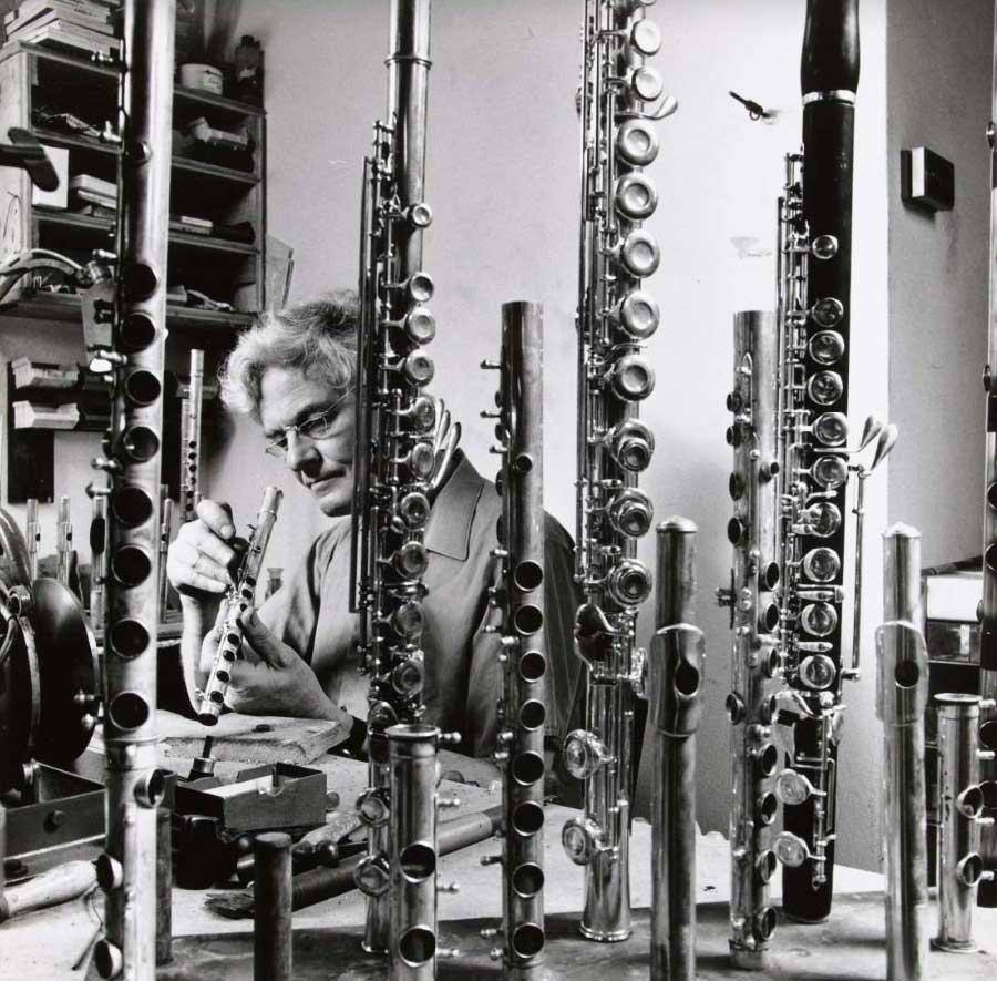 Dirk Kuiper in his workshop