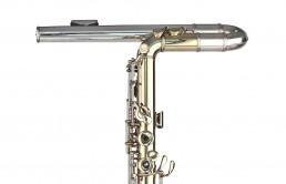 Hoover Bass flute - Headjoint Front